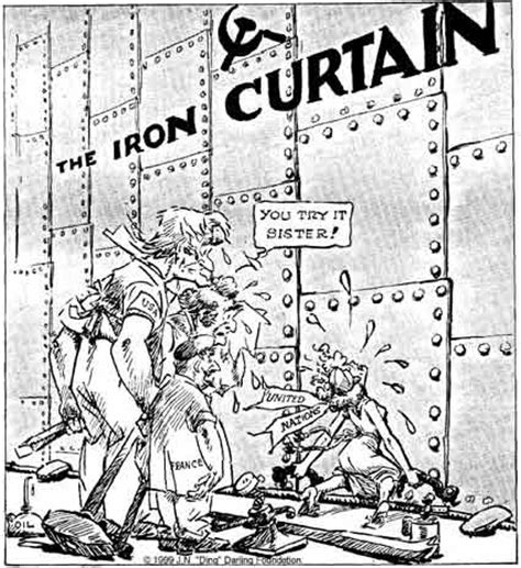 which great foreign diplomat coined the phrase iron curtain michelle iron curtain causes of the cold war