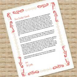 christmas letter template for ms word download amp print
