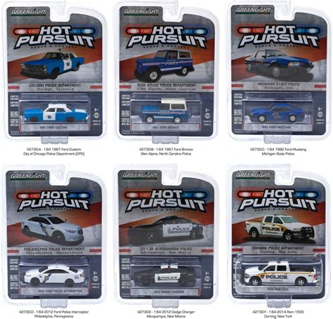 Green Light Auto by Greenlight 1 64 Pursuit Cars Series 16 Set Of 6