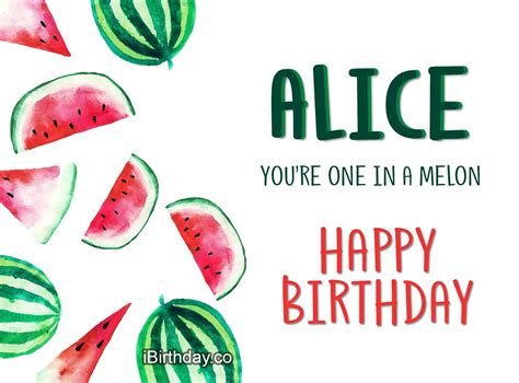 Happy Birthday Alice Meme