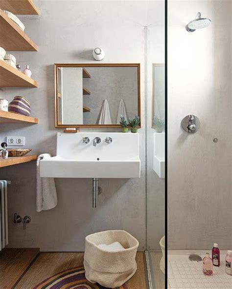 Nice Amenagement Salle De Bain 4m2 #5: 000-salle-de-bain-4m2-idee-amenagement-petite-salle-de-bain-sol-en-pariquet-mur-en-beton-cire.jpg