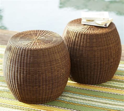 wicker accent tables palmetto all weather wicker accent table traditional