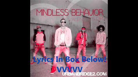 lyrics mindless behavior mindless behavior valentines lyrics song