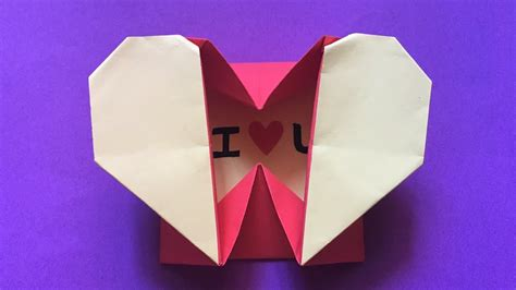 How To Make A Paper Hart - how to make an easy origami box envelope paper