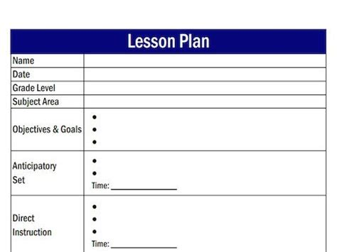 lesson plans easy economics