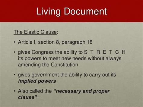 article i section 8 clause 18 bundle of compromises civics economics