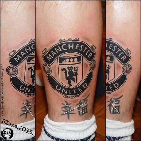tattoo football designs manchester united logo by blaze www