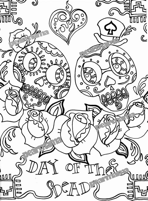 day of the dead coloring pages to print day of the dead lesson plan with printables modern art 4