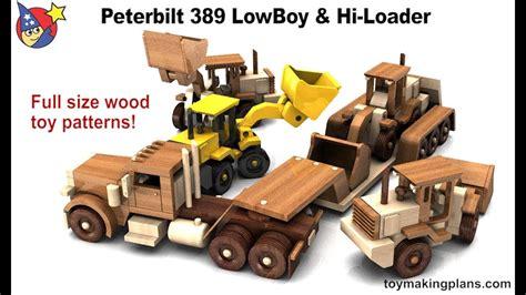 wood toy plans peterbilt  lowboy   loader youtube