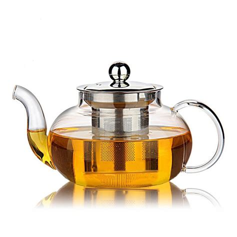glass teapot with hiware glass teapot with stainless steel infuser
