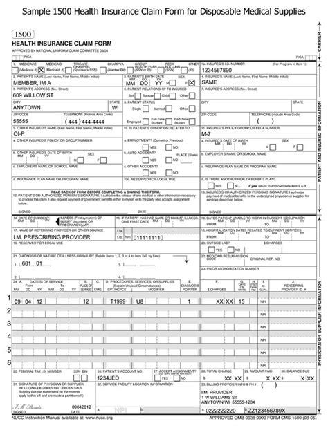 claim form claim form sample