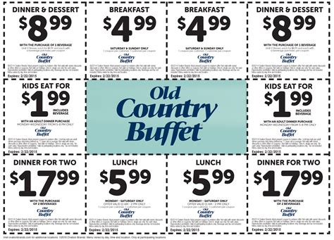 Buffet Coupons Country Buffet Coupons 2017 2018 Best Cars Reviews
