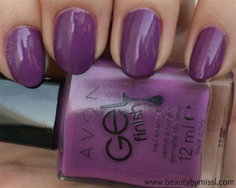 Gel Lipstick Avon avon gel finish nail in purplicious by miss l