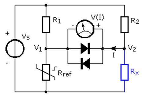 wheatstone bridge voltmeter measuring resistance electronic measurements