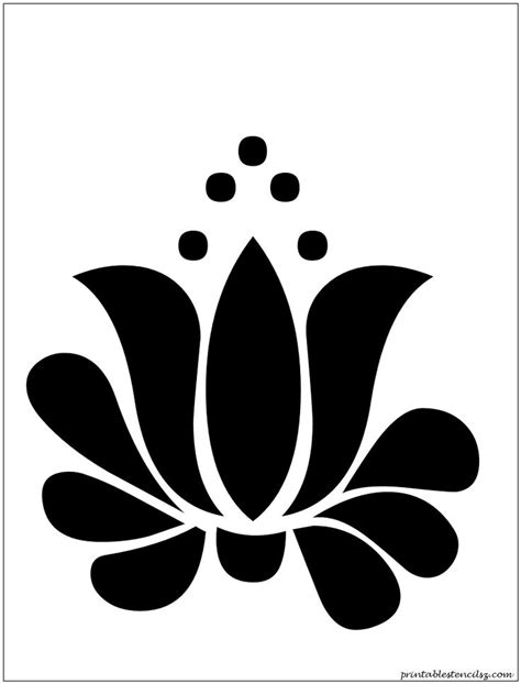 The Gallery For Gt Lotus Stencil Stencil Template