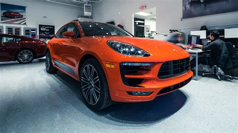 lava orange porsche porsche macan turbo dressed in 911 gt3 rs lava orange pun