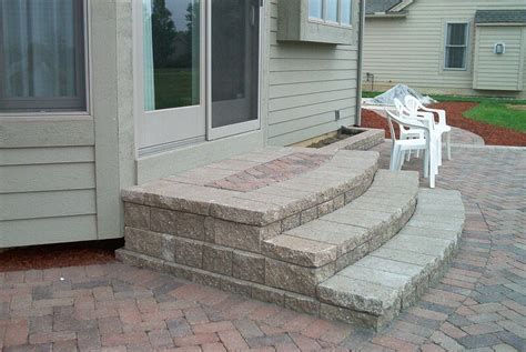 patio stairs ideas     ideas  encased