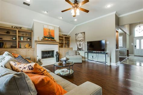 ceiling fans plano tx asian living room with crown molding cathedral ceiling