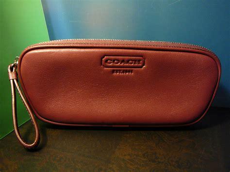 sale coach merlot leather eyeglass sunglasses or small