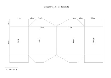 model card houses template cardboard house template
