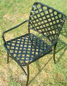 Patio Chair Webbing Replacement by Patio Furniture Repair Of Vinyl Lacing