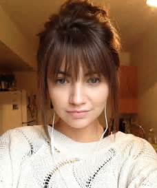 hairstyles with fringe bangs 25 best ideas about full fringe hairstyles on pinterest