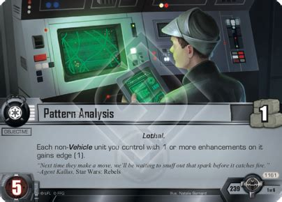 pattern analysis games pattern analysis a wretched hive star wars lcg star