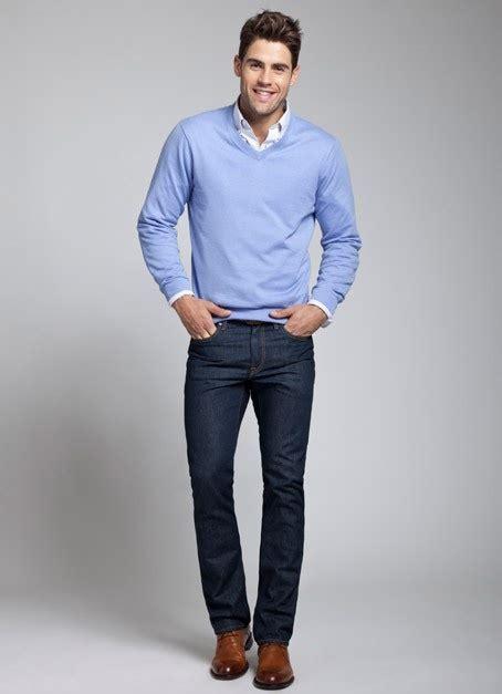 Sleeve Broad Brown blue shirt black brown shoes sweater jacket
