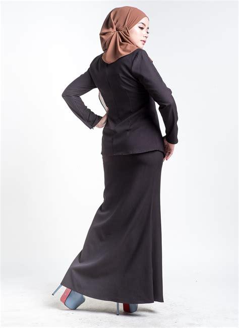 Baju Melayu Moden Hitam baju kebarung estrella black hitam lovelysuri