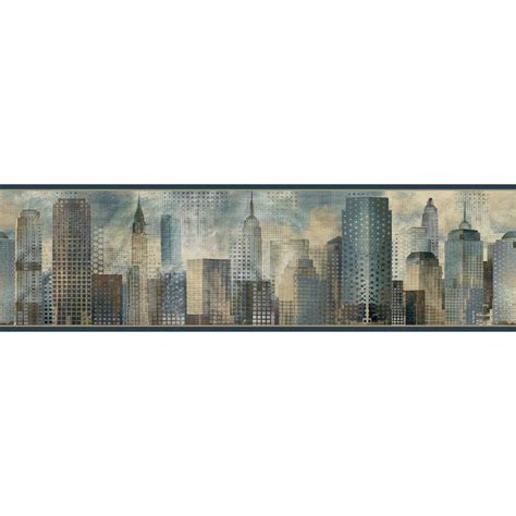 chesapeake skyline wallpaper border man01821b the