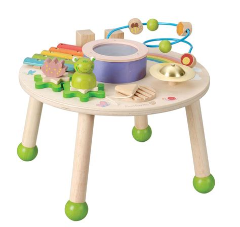 new children s wooden music play table w drum xylophone
