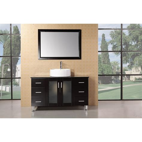Modern Single Bathroom Vanity by Design Element Seabright 48 Quot Single Sink Modern Bathroom