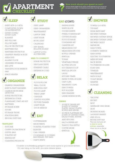appartment list new apartment checklist lightbulb pinterest