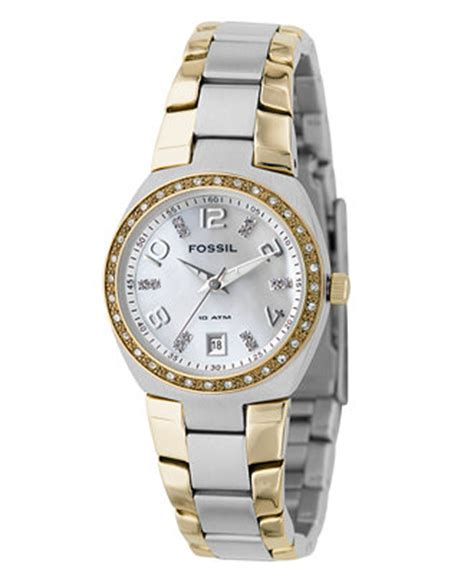 fossil s two tone stainless steel bracelet