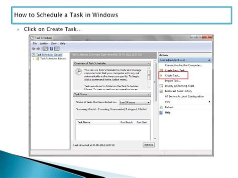 how to schedule a task in windows how to schedule a task in windows