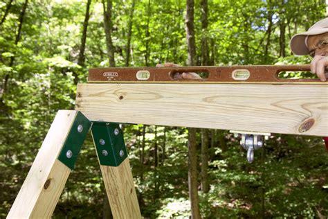 how to make a wooden swing diy backyard wooden swing set quiet corner
