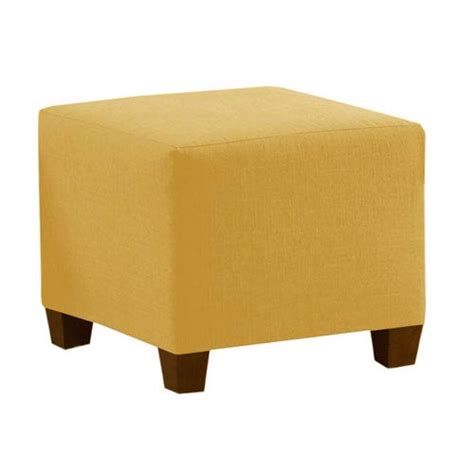 yellow ottoman square ottoman in linen french yellow skyline furniture