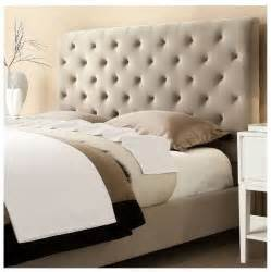 Bed Frames Upholstered Headboards Modern Button Tufted Taupe Upholstered Padded
