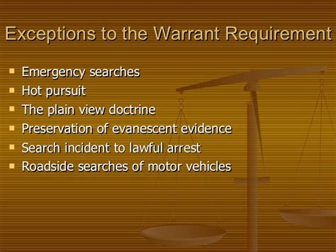 Exceptions To A Search Warrant Ch 15 Search And Seizure