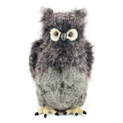 owl stuffed animal handcrafted 14 inch lifelike great grey owl stuffed animal