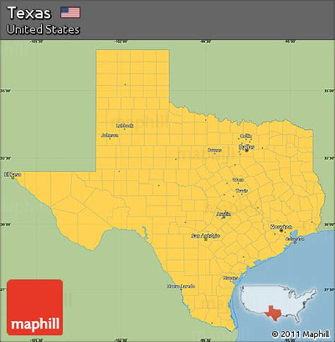 simple map of texas texas map simple