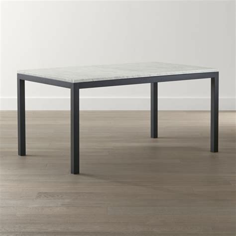 marble and metal dining table parsons white marble top steel base dining tables