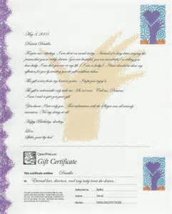 Certification Of Gift Letter Love Letter Gift Certificate Letter Overview