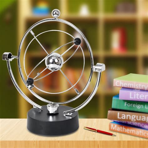 Pajangan Meja Orbital Kinetik Kinetic Orbital Revolving Gadget Perpetual Motion Desk Office Decoration Ebay