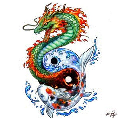 koi dragon tattoo yin yang mypictures63 flickr