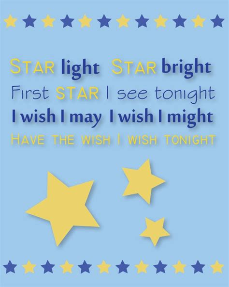 Light Rhyme childrens wall print nursery rhyme light