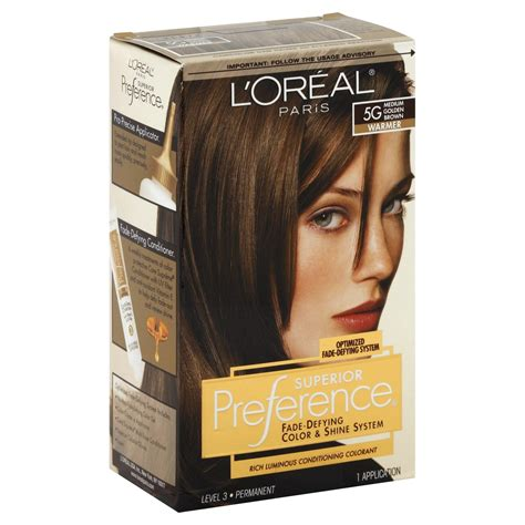 medium brown loreal hair color preference hair color warmer medium golden brown 5g 1