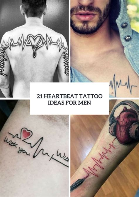 heartbeat tattoo male 21 touching heartbeat tattoo ideas for men styleoholic
