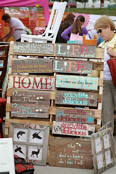 wood scow signs at eco chic fall junk market 2013 good stuff