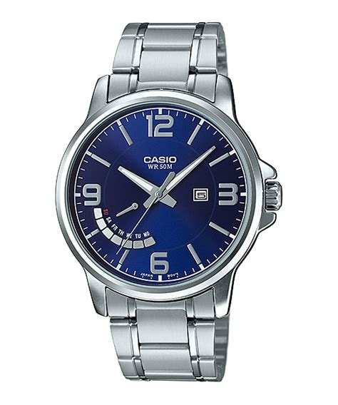 Casio E124 collection black blue white mtp e124